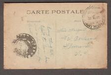 6-2-19 inverted date WWI AEF censor post card Malicorne APO 762 -Gloversville NY