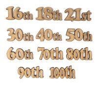 Birthday numbers  13th 16th 18th 21st 30th 40th 50th 60th 70th 80th 90th 100th