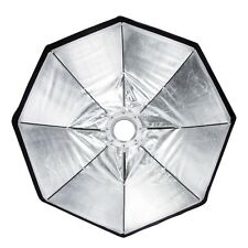 """100cm (39.3"""") Plato Plegable Portátil Plata Softbox Luz Iluminación S-Type"""