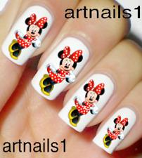 Disney Minnie Polka Dot Red Nail Art Water Slide Stickers Manicure Salon Polish