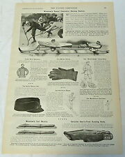 1899 ad page ~Winslow's Speed Extension ICE HOCKEY Skates and winter sport goods