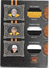 T.THOMAS,T.RASK,& T.SEGUIN 2010 CROWN ROYALE RL TRIPLE GAME WORN 2C PATCHES#/50