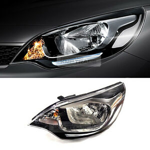 OEM Parts DRL LED Positioning Black Head Lamp LH For KIA 2012-17 Rio Pride Sedan