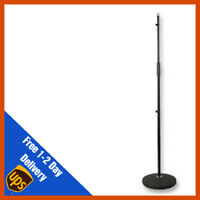 Pulse Mic Stand Round Base Heavy Duty Black Band PA Microphone PLS00055