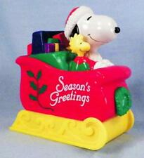 Snoopy & Woodstock Bank Whitman's Candies Season's Greetings Sleigh