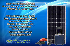 5200watts Solar Hybrid Generator Emergency Power Solar Panel Battery Charger