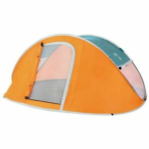 Tenda da per Campeggio 3 Posti Impermeabile Automatica Bestway Canadese Arancio