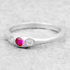 Silver Stacking Ring For Women Dainty Silver Cocktail Ring Minimalist Gift Mom