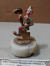 Ron Lee Clown Figure on Riding a Broom Horse on a Marble Base 96