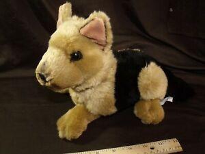 Retired Animal Planet realistic German Shepherd Lying Plush Dog vintage RARE GSD
