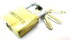 25 mm  Hd  Brass Padlock Hardened Shackle With  3 Keys New TZ LK014