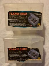 2 = Plano 3503 Spinnerbaits-22 Spoons-44 Storage Boxes : Vintage ! See Pics !