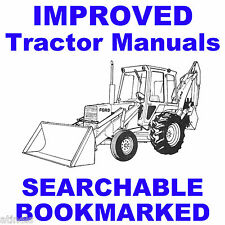 Ford Tractors 455c 555c 655c Backhoe Tractor Service Repair Manual SEARCHABLE CD