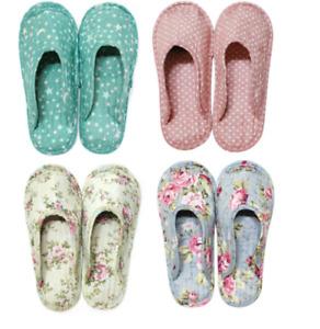 6 pairs of quilt slippers inner shoe non-slip  slipper washable - women size 6-8