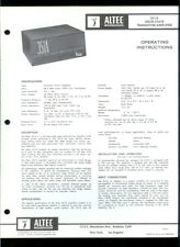 Altec 351A Solid State Power Amplifier Amp Original Factory Owner's Manual