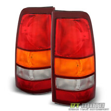 1999-2002 Chevy Silverado 1999-2006 GMC Sierra Replacement Tail Lights Lamps Set