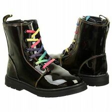 GIRL'S ZODIAC *RYAN RAINBOW LACE BOOTS* COLOR BLACK SIZE 5 M New