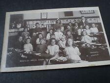 Old real photo postcard Bordesley Green school class 1922