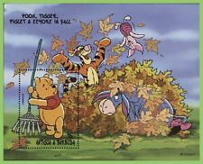 Antigua & Barbuda 1998 Disney Winnie The Pooh $6 Fall mini sheet MNH