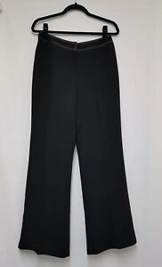 Womens Wallis Black Trousers Size 12 Business Trousers Tailored Trousers - C9
