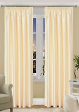 Faux Silk Fully Lined Curtains Luxury  living  - Tape Top Curtain Pair