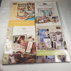 Lot of 4 Stampin' Up! Idea Book Catalogs 2006-2011