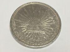 1902 Mo A.M. Mexico $ 1 Peso SECOND REPUBLIC  Coin Silver 0.9027  XF  KM#409.2
