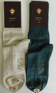 VK Nagrani Gold Men's Luxury Socks Wool Over Calf Average Size L107 L1000