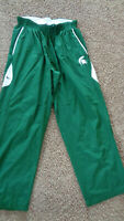 Men's NIKE DARK GREEN MICHIGAN STATE -  TRACK PANTS XL EXTRA LARGE forest