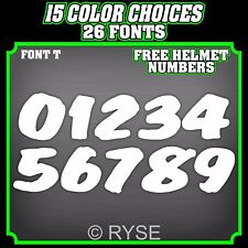 CUSTOM MX MOTORCYCLE NUMBER PLATE DECALS STICKERS **SET OF 3** SX ATV MOTOCROSS