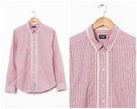 Vintage Mens DOLCE & GABBANA Long Sleeve Shirt Striped Pink Size M