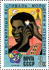 Russland Sowjetunion MNH Jugend Studenten Festival Tracht Vogel Taube Frieden