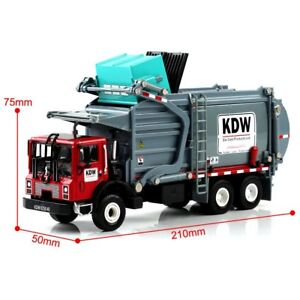 1:24 Scale Diecast Alloy KDW Transporter Garbage Truck Vehicle Car Model Toys