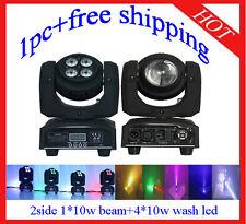 1pc 2 Side Led 1*10W Beam +4*10W Wash Moving Head Light DJ Light Free Shipping