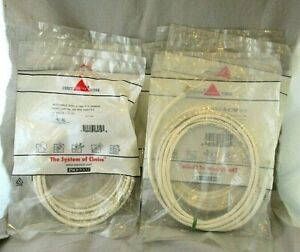 10X Siemon Cat 5e White Cables Internet Ethernet 7 Feet Cords New