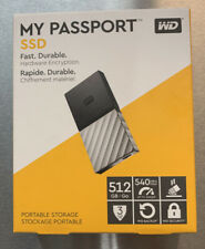 WD - My Passport SSD 512GB External USB 3.1 Gen 2 Portable Solid State Drive ...