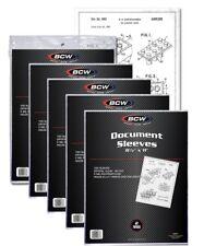 5 Pack of 500 Sleeves BCW 8½X11 Document Sleeves Toploaders (#861)
