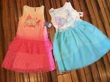 Disney Princess & Elsa dresses LOT of 2 NEW Fancy dresses Girls 7 $108 retail !