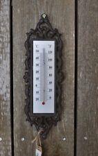 Thermometer Gartenthermometer Gusseisen 30 cm  shabby Vintage Landhaus Nostalgie