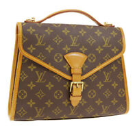 LOUIS VUITTON BEL AIR 2WAY BUSINESS HAND BAG MI0946 MONOGRAM M51122 AUTH 03115