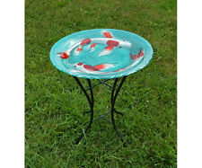Bird Baths Koi Pond Glass Bird Bath with Stand Se5027