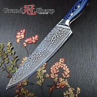 8-Inch Chef Knife 67 Layers Damascus Steel VG10 Kitchen Sushi Vegetables Japan