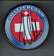 Timo Meier Autograph San Jose Sharks Switzerland Puck Signed