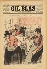 """ gil blas "" stone - lithograph - barbancon .par maurice montegut .1895"