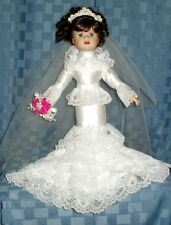 HANDMADE MERMAID STYLE WEDDING GOWN BRIDE DOLL--EXCLUSIVELY BY SPECIAL CREATIONS