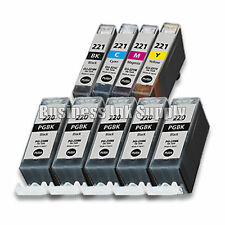 9 PACK PGI-220 CLI-221 Ink Tank for Canon Printer Pixma iP3600 iP4600 NEW