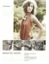 PUBLICITE ADVERTISING 2010  MARE DI LATTE vetements le paréo malin
