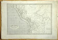 PEROU et BOLIVIE Carte geographique ancienne antique old map MONIN 1837