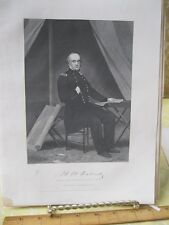 Vintage Print,HENRY WAGER HALLECK,Gallery Eminent Americans,Alonzo Chappel,1860