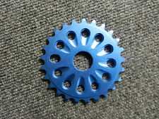 New blue 25 tooth alloy bicycle chain ring for 1 piece cranks or 22 mm spindle